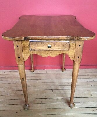ETHAN ALLEN CIRCA 1776 Collection Maple Porringer Top Lamp End Table ...