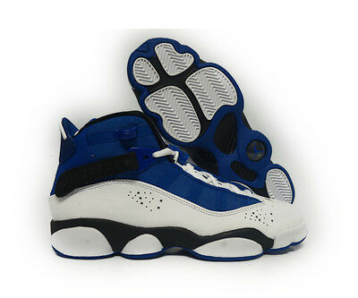 outlet store 76b44 17106  323419-400  JORDAN 6 RINGS TEAM ROYAL BLACK WHITE GRADE SCHOOL SNEAKERS Sz