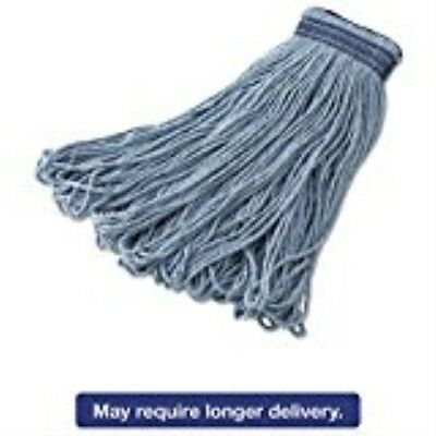 Rubbermaid Commercial Universal Headband Mop Head, Blue Blended, 16-ounce, Blue