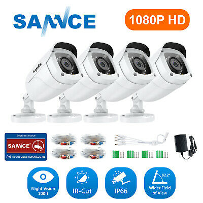 SANNCE 4x Bullet 1500TVL CCTV Camera 720P TVI IR Indoor Outdoor security system