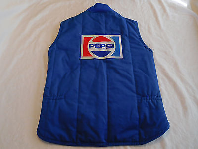 Vintage Work Wear Pepsi Cola Delivery Vest Coat Jacket 2 Patches L Large Long