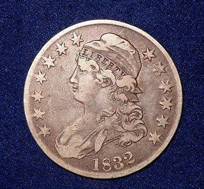 1832 50C Overton 107 Capped Bust Half Dollar