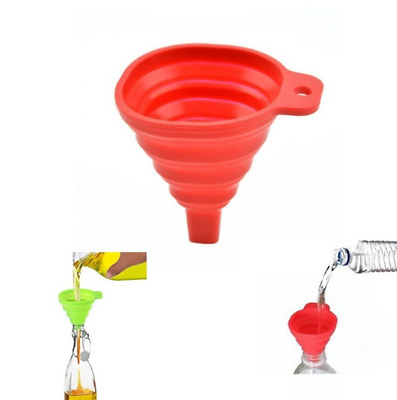 FLEXIBLE Silicone Collapsible Foldable Silicon Kitchen Funnel Hopper