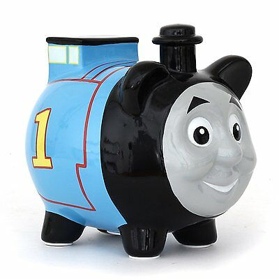 Licensed Thomas The Train 3D Shape Mini Ceramic Piggy Bank