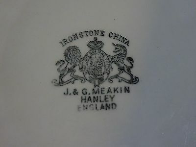 Antique White Ironstone Oval Platter J & G Meakin Hanley England Beautiful