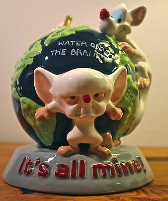 Pinky and the Brain ceramic coin bank Warner Bros RARE 1996