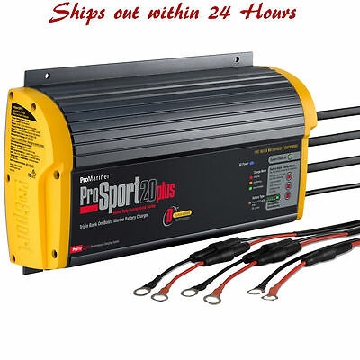 ProMariner ProSport Marine On Board Battery Charger 20 Plus GEN 3 20 Amp 3 Bank