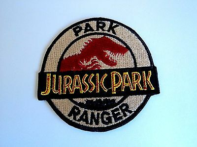 1x Jurassic Park Ranger Embroidered Cloth Patches Applique Badge Iron Sew On