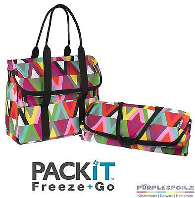 NEW FREEZABLE PACKIT PICNIC TOTE Carrier Bag Freeze Freezer Chill Camping