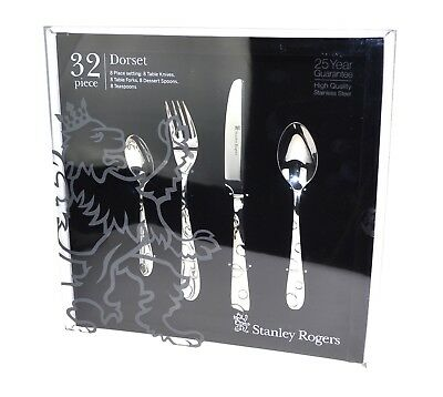 NEW STANLEY ROGERS 32 PIECE DORSET CUTLERY GIFT BOXED SET Fork Knife Spoon