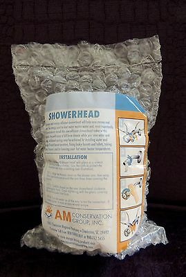 new am group low flow 15 gpm shower head massager white
