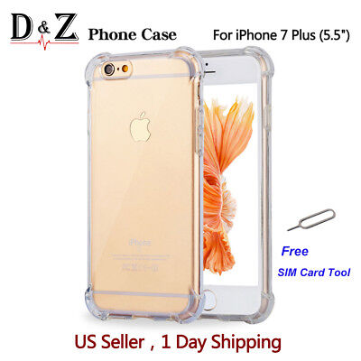 For iPhone 7/7 Plus/6/6s Plus/8/8 Plus/X Case Crystal Clear Cover Protective TPU