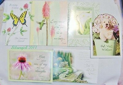 Mixed Greeting Cards Get Well, HB, Thinking of You, Thank You, Sympathy, Friends