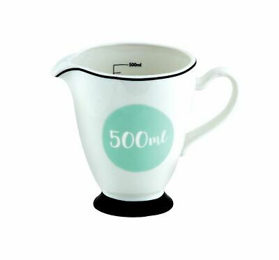 NEW ANNA GARE MEASURING JUG Porcelain Cup Measure Kitchen Utensil 500ML