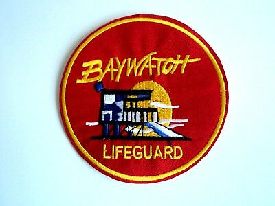 1x Baywatch Lifeguard Patch Embroider Cloth Patches Applique Badge Iron Sew On