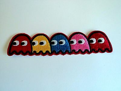 1x Pacman Patch Embroidered Cloth Patches Applique Badge Iron Sew On