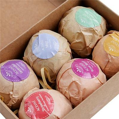 Set of 6 LARGE Bath Bomb Lot Fizzy Fizzies Lush Luxurious Organic Great Gift -Y2