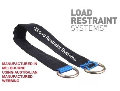 (2 Pack ) 600mm Car Axle Strap Tow Truck Car Carrying Centre Strap Tilt Tray