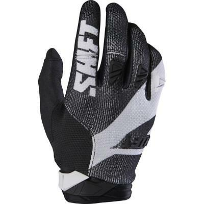 NEW Shift 2017 3LACK Pro Black/White Gloves from Moto Heaven