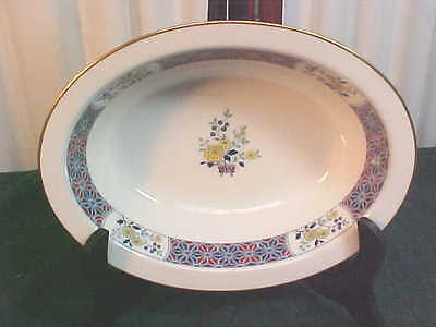 Beautiful Noritake Ivory China Cathay Floral Designed Oval Serving Bowl-#7179