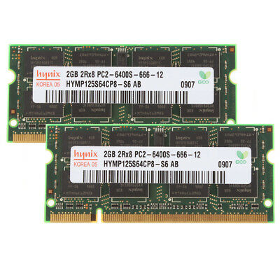 New Kits 4GB 2 X 2GB 2Rx8 PC2-6400S DDR2 800Mhz 200pin SODIMM RAM Laptop Chips
