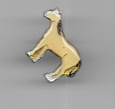 Vintage White Horse with Black Mane and Tail old enamel pin