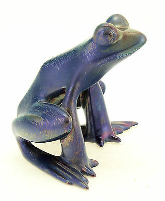 Zsolnay Unique Iridescent Eosin Art Deco Frog Figurine