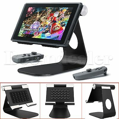 Stand Rotatable 210° Aluminum Play Stand Dock Holder For Nintendo Switch Console