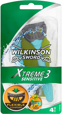 Wilkinson Sword Xtreme 3 Flexible Comfort Plus Sensitive Disposable Razor NEW