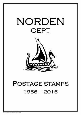 EUROPA CEPT NORDEN  PDF (DIGITAL) STAMP  ALBUM PAGES 1956-2016 (40 pages)