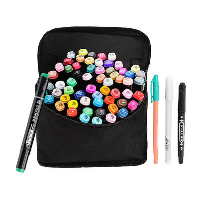 TOUCHNEW Markers Permanent Color Double Head Water Based Colored Pen Black Body
