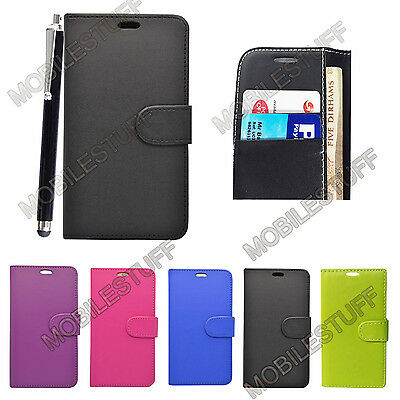 Leather Wallet Book Flip Case Pouch For Sony xPeria Experia E5 Mobile Phones