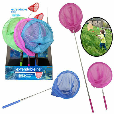 Childrens Insect Fishing Catch Butterfly Net Micro Mesh Fish Extendable Pole Sea