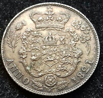 1821 Sixpence. S.3813. George 1V British Silver Coins.