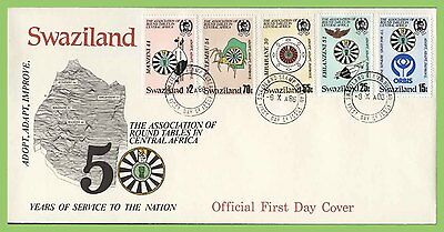 Swaziland 1986 Round Table set on First Day Cover