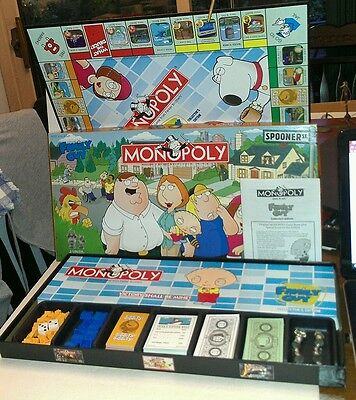 Family Guy Monopoly Collectors Edition Peter Lois Griffin Brian Meg Brian Stewie