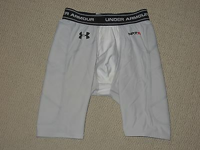 Boys Under Armour UA MPZ1 Cup Pocket Compression Shorts Youth XL XLarge YXL Gray