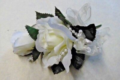 Wedding Flowers Rose Corsage Many Colours With Pearls