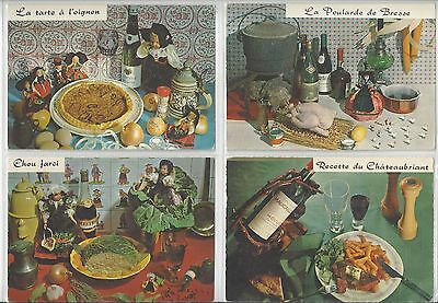 15 Post Cards with WINE related CUISINE and Table Decor Theme unused