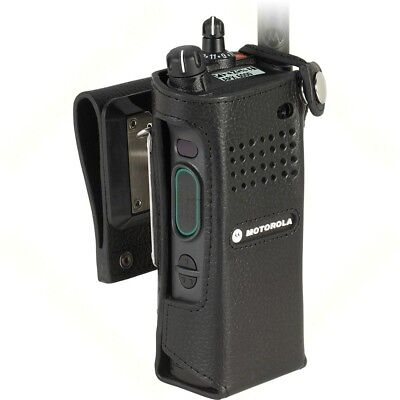 """Motorola - Pmln5657B - Leather Carry Case With 2.75"""" Swivel Belt Loop Apx Radios"""
