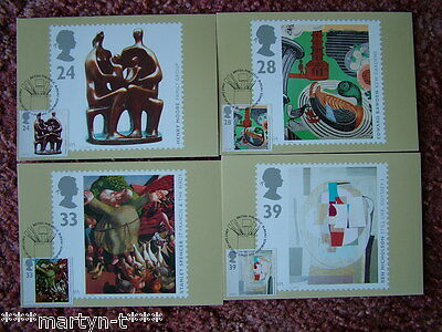 PHQ Card set FDI Front No 152 Art in 20th Cent 1993 4 card set Mint Condition