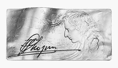 Niue Islands 2015 20$ The score of Frederic Chopin 4oz Silver coin Only 600 Mint