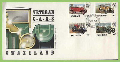 Swaziland 1985 Veteran Cars set on First Day Cover