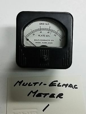 Simpson Model 127 150 Ma Plate 5 Ma Grid Current Meter, Tested & Works Fine #1