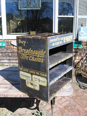 1920's Dreadnaught Tire Chains Display Rack Cabinet Ford Model T Chains.Others