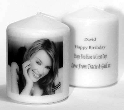 Personalised Kylie Minogue Candle Gift Unique Keepsake Present any occasion #1