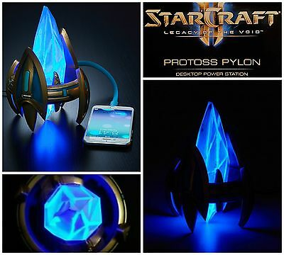 StarCraft II Legacy of the Void Protoss Pylon USB Charger Station Blizzcon