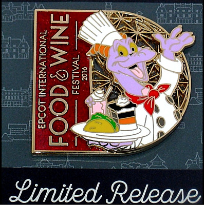 NEW Limited Disney Pin Chef Figment EPCOT Food Wine Festival 3D Stained Glass LE