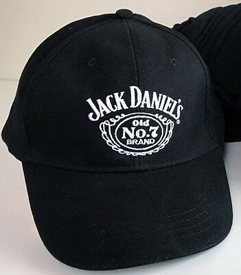 jack daniels cap -plain black with brass adjuster