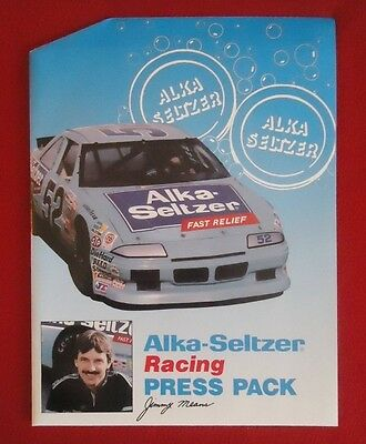 1991 Jimmy Means #52 Alka-Seltzer SPEEDY Pontiac Racing NASCAR MEDIA PRESS KIT